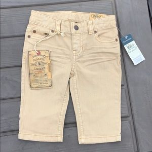 NWT Ralph Lauren 3T tan denim shorts